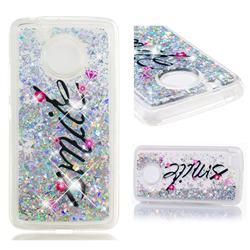 Smile Flower Dynamic Liquid Glitter Quicksand Soft TPU Case for Motorola Moto E4 (USA)