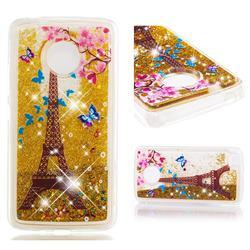 Golden Tower Dynamic Liquid Glitter Quicksand Soft TPU Case for Motorola Moto E4 (USA)