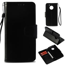 Retro Phantom Smooth PU Leather Wallet Holster Case for Motorola Moto E4 (USA) - Black