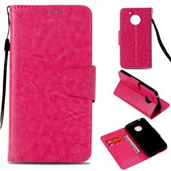 Retro Phantom Smooth PU Leather Wallet Holster Case for Motorola Moto E4 (USA) - Rose