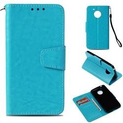 Retro Phantom Smooth PU Leather Wallet Holster Case for Motorola Moto E4 (USA) - Sky Blue