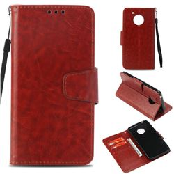 Retro Phantom Smooth PU Leather Wallet Holster Case for Motorola Moto E4 (USA) - Brown