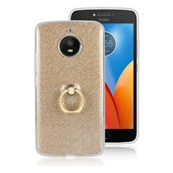 Luxury Soft TPU Glitter Back Ring Cover with 360 Rotate Finger Holder Buckle for Motorola Moto E4 Plus (USA) - Golden