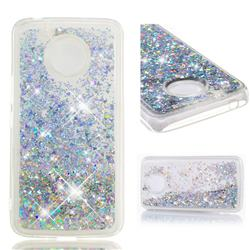 Dynamic Liquid Glitter Quicksand Sequins TPU Phone Case for Motorola Moto E4 Plus (USA) - Silver
