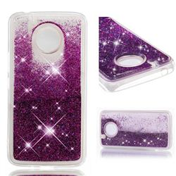 Dynamic Liquid Glitter Quicksand Sequins TPU Phone Case for Motorola Moto E4 Plus (USA) - Purple