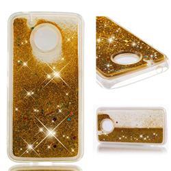 Dynamic Liquid Glitter Quicksand Sequins TPU Phone Case for Motorola Moto E4 Plus (USA) - Golden