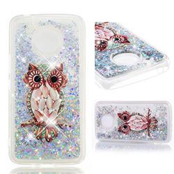 Seashell Owl Dynamic Liquid Glitter Quicksand Soft TPU Case for Motorola Moto E4 Plus (USA)