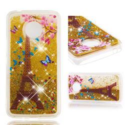 Golden Tower Dynamic Liquid Glitter Quicksand Soft TPU Case for Motorola Moto E4 Plus (USA)