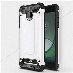 King Kong Armor Premium Shockproof Dual Layer Rugged Hard Cover for Motorola Moto Z Play - White