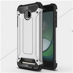 King Kong Armor Premium Shockproof Dual Layer Rugged Hard Cover for Motorola Moto Z Play - Technology Silver