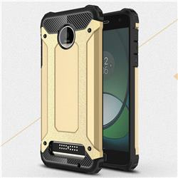 King Kong Armor Premium Shockproof Dual Layer Rugged Hard Cover for Motorola Moto Z Play - Champagne Gold