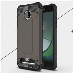 King Kong Armor Premium Shockproof Dual Layer Rugged Hard Cover for Motorola Moto Z Play - Bronze