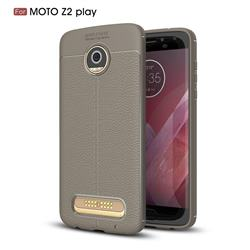 Luxury Auto Focus Litchi Texture Silicone TPU Back Cover for Motorola Moto Z2 Play - Gray