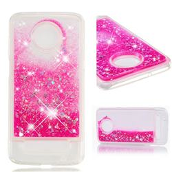 Dynamic Liquid Glitter Quicksand Sequins TPU Phone Case for Motorola Moto Z3 Play - Rose