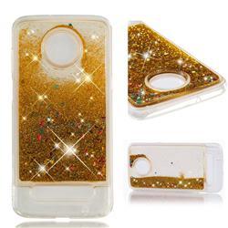 Dynamic Liquid Glitter Quicksand Sequins TPU Phone Case for Motorola Moto Z3 Play - Golden