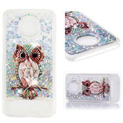 Seashell Owl Dynamic Liquid Glitter Quicksand Soft TPU Case for Motorola Moto Z3 Play