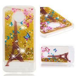 Golden Tower Dynamic Liquid Glitter Quicksand Soft TPU Case for Motorola Moto Z3 Play