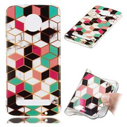 Three-dimensional Square Soft TPU Marble Pattern Phone Case for Motorola Moto Z3 Play