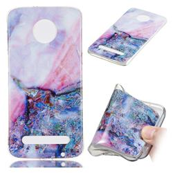 Purple Amber Soft TPU Marble Pattern Phone Case for Motorola Moto Z3 Play