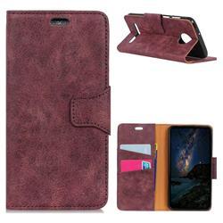 MURREN Luxury Retro Classic PU Leather Wallet Phone Case for Motorola Moto Z3 Play - Purple