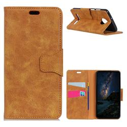 MURREN Luxury Retro Classic PU Leather Wallet Phone Case for Motorola Moto Z3 Play - Yellow