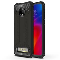 King Kong Armor Premium Shockproof Dual Layer Rugged Hard Cover for Motorola Moto Z4 Play - Black Gold