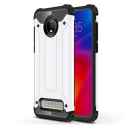 King Kong Armor Premium Shockproof Dual Layer Rugged Hard Cover for Motorola Moto Z4 Play - White