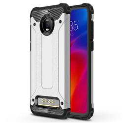 King Kong Armor Premium Shockproof Dual Layer Rugged Hard Cover for Motorola Moto Z4 Play - Technology Silver