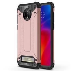 King Kong Armor Premium Shockproof Dual Layer Rugged Hard Cover for Motorola Moto Z4 Play - Rose Gold