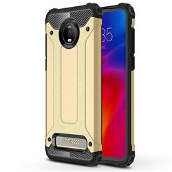 King Kong Armor Premium Shockproof Dual Layer Rugged Hard Cover for Motorola Moto Z4 Play - Champagne Gold