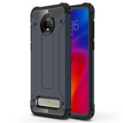 King Kong Armor Premium Shockproof Dual Layer Rugged Hard Cover for Motorola Moto Z4 Play - Navy