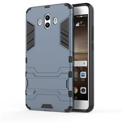Armor Premium Tactical Grip Kickstand Shockproof Dual Layer Rugged Hard Cover for Huawei Mate 10 (5.9 inch, front Fingerprint) - Navy