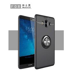 Auto Focus Invisible Ring Holder Soft Phone Case for Huawei Mate 10 (5.9 inch, front Fingerprint) - Black