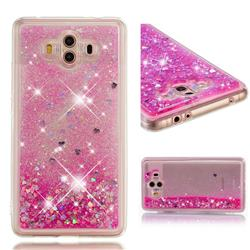Dynamic Liquid Glitter Quicksand Sequins TPU Phone Case for Huawei Mate 10 (5.9 inch, front Fingerprint) - Rose