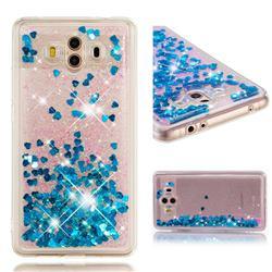 Dynamic Liquid Glitter Quicksand Sequins TPU Phone Case for Huawei Mate 10 (5.9 inch, front Fingerprint) - Blue