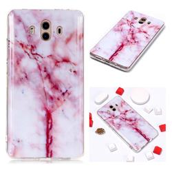 Red Grain Soft TPU Marble Pattern Phone Case for Huawei Mate 10 (5.9 inch, front Fingerprint)