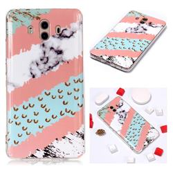 Diagonal Grass Soft TPU Marble Pattern Phone Case for Huawei Mate 10 (5.9 inch, front Fingerprint)