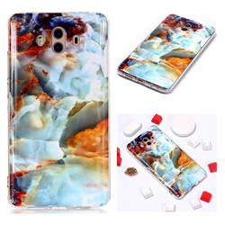 Fire Cloud Soft TPU Marble Pattern Phone Case for Huawei Mate 10 (5.9 inch, front Fingerprint)