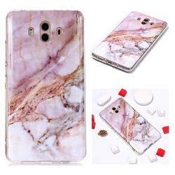 Classic Powder Soft TPU Marble Pattern Phone Case for Huawei Mate 10 (5.9 inch, front Fingerprint)