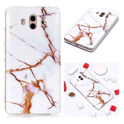 Platinum Soft TPU Marble Pattern Phone Case for Huawei Mate 10 (5.9 inch, front Fingerprint)