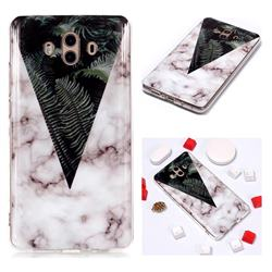 Leaf Soft TPU Marble Pattern Phone Case for Huawei Mate 10 (5.9 inch, front Fingerprint)