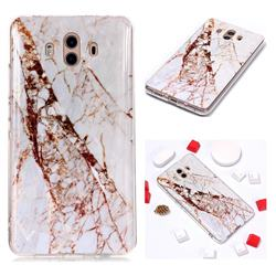 White Crushed Soft TPU Marble Pattern Phone Case for Huawei Mate 10 (5.9 inch, front Fingerprint)