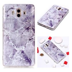 Light Gray Soft TPU Marble Pattern Phone Case for Huawei Mate 10 (5.9 inch, front Fingerprint)