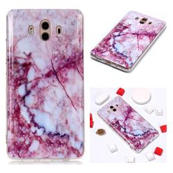 Bloodstone Soft TPU Marble Pattern Phone Case for Huawei Mate 10 (5.9 inch, front Fingerprint)