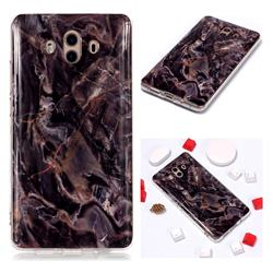 Brown Soft TPU Marble Pattern Phone Case for Huawei Mate 10 (5.9 inch, front Fingerprint)