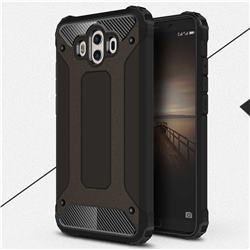 King Kong Armor Premium Shockproof Dual Layer Rugged Hard Cover for Huawei Mate 10 (5.9 inch, front Fingerprint) - Black Gold