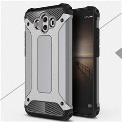 King Kong Armor Premium Shockproof Dual Layer Rugged Hard Cover for Huawei Mate 10 (5.9 inch, front Fingerprint) - Silver Grey