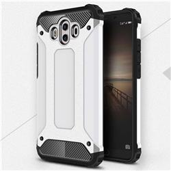 King Kong Armor Premium Shockproof Dual Layer Rugged Hard Cover for Huawei Mate 10 (5.9 inch, front Fingerprint) - White