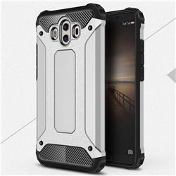 King Kong Armor Premium Shockproof Dual Layer Rugged Hard Cover for Huawei Mate 10 (5.9 inch, front Fingerprint) - Technology Silver