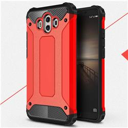 King Kong Armor Premium Shockproof Dual Layer Rugged Hard Cover for Huawei Mate 10 (5.9 inch, front Fingerprint) - Big Red